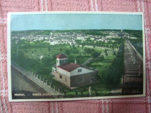 antigua foto postal 6459 tandil vista panoramica parque inde