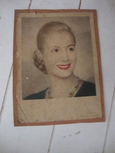 antigua foto postal de evita