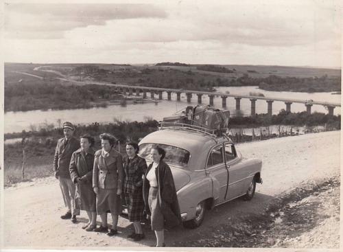 antigua foto puente en rio camacua rio grande do sul brasil