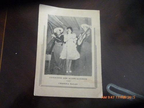 antigua foto tipo publicidad grupo los aconcaguinos (92f1