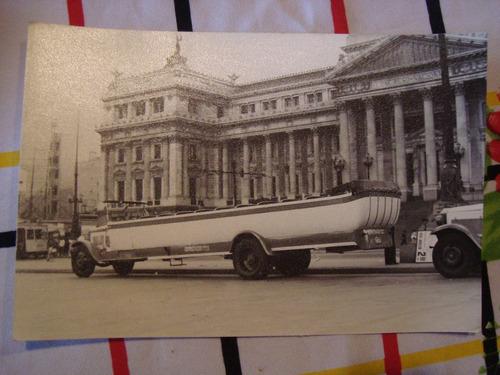 antigua fotografía bañadera de excursión colectivo 18x12 cm