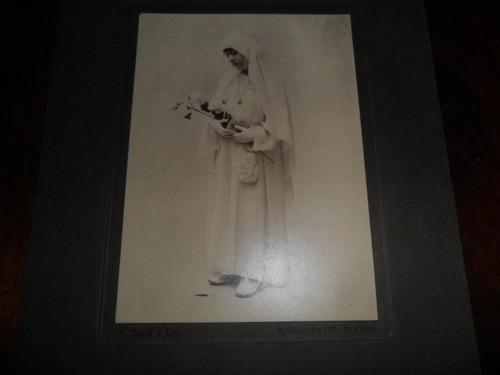 antigua fotografia bixio & castiglioni foto comunion niña