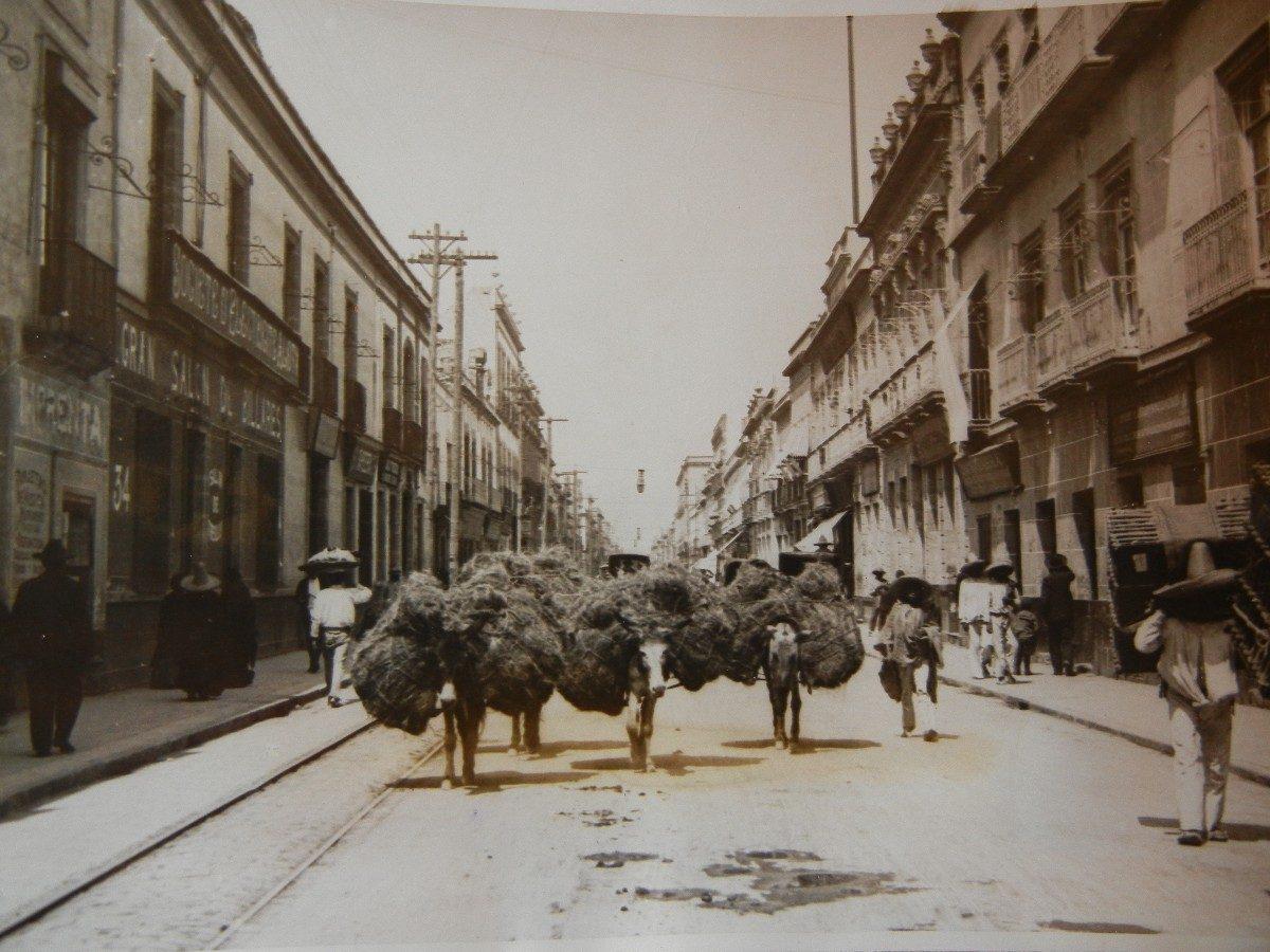 Calle antigua de Puebla