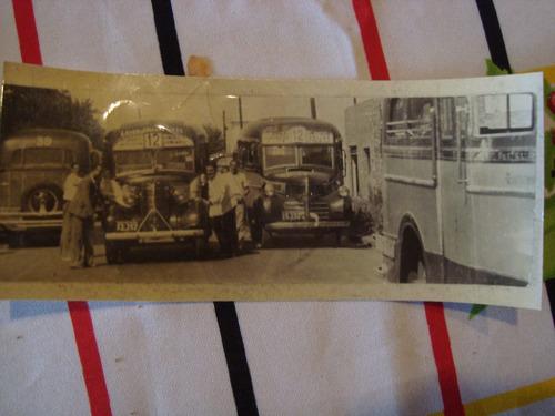 antigua fotografía colectivos 16x7 cm