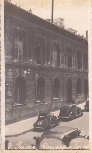 antigua fotografia conservatorio de paris francia años 30