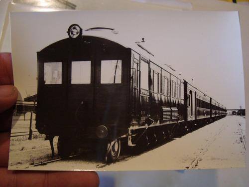 antigua fotografia de vagón tren antiguo ferrocarril 13x9 cm