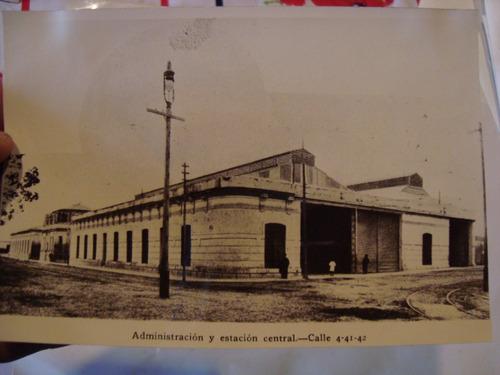 antigua fotografía edificio antiguo estacion central 18x15cm
