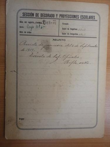 antigua fotografía escuela de sub-oficiales 1914