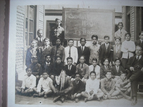 antigua fotografia escuela superior n° 91  5 y 6 año 1923