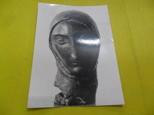 antigua fotografia foto escultura mujer cabeza escultor