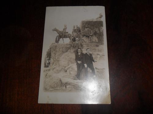 antigua fotografia foto estatua monumento rosario 1930