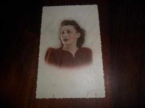 antigua fotografia foto mujer peinado rostro