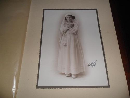 antigua fotografia foto retrato jorge graf comunion niña