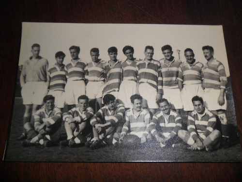 antigua fotografia foto rugby jugador saenz peña san martin