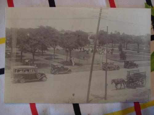 antigua fotografía gral paz carruaje colectivo 15x10 cm