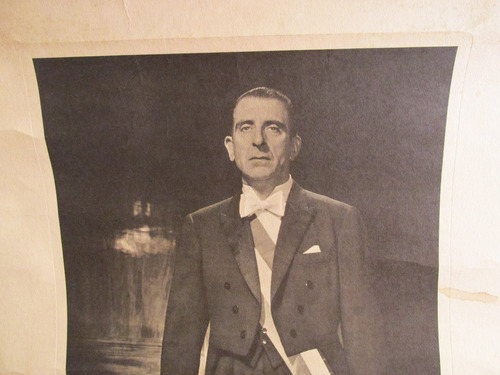 antigua fotografia oficial del presidente eduardo frei m