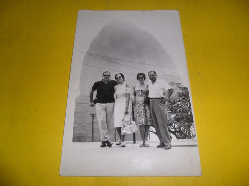 antigua fotografia pan de azucar montaña roca vacaciones via