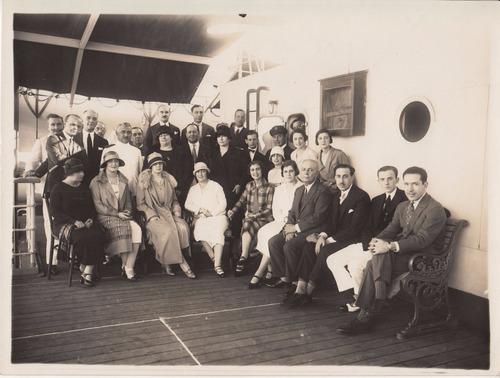 antigua fotografia pasajeros a bordo transatlantico 18 x 24