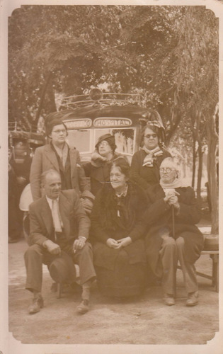 antigua fotografia real uruguay personas y omnibus micro
