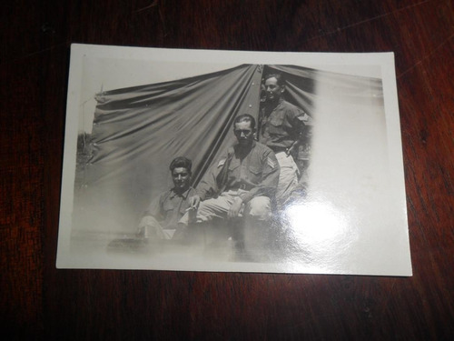 antigua fotografia recuerdo chivilcoy militar carpa uniforme
