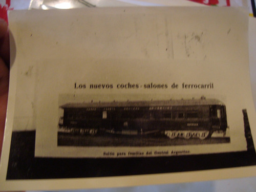 antigua fotografía tren antiguo nuevo coche salones 13x9 cm