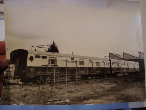 antigua fotografía tren ferrocarril walter sarando 17x23 cm