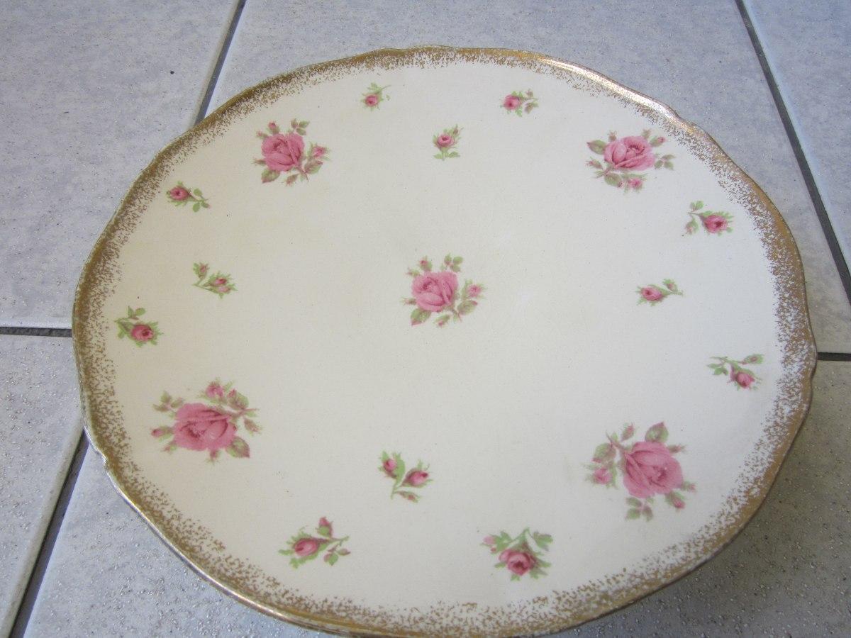 Antigua frutera porcelana inglesa dise o flores 1940 - Porcelana inglesa antigua ...