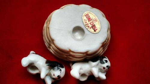 antigua fugura miniatura ( bone china japan ) adorno navidad