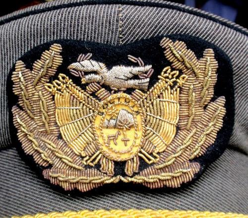 antigua gorra general policia fronteriza bolivia obsoleta