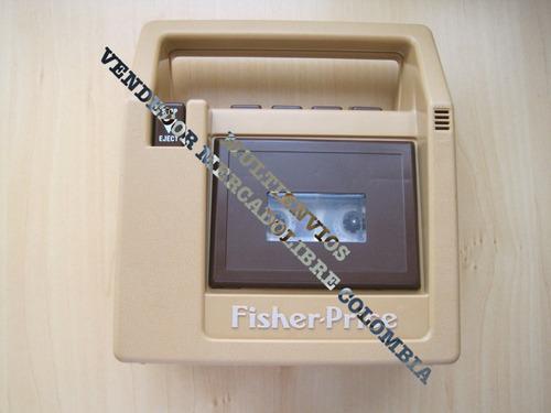 antigua grabadora cassette juguete fisher price toys trabaja