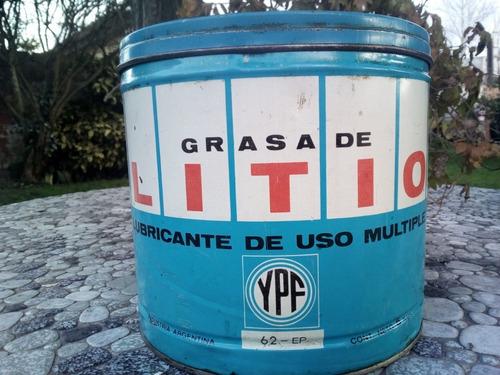 antigua grasa de litio ypf vacia con tapa