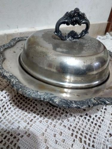 antigua guisera reprod old sheffield 25 cm diametro sellada