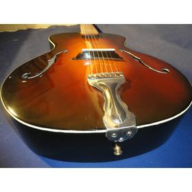 Antigua Guitarra Acustica De Jazz ( Caja Ancha ) Austriaca