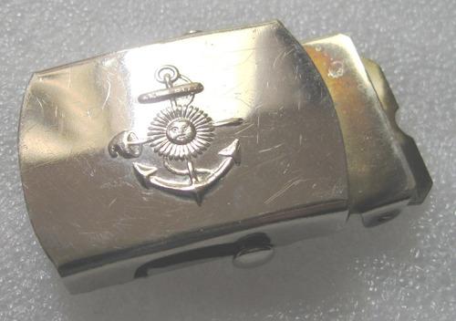 antigua hebilla metal con escudo naval armada argentina