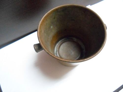 antigua hielera de bronce!! imperdible!!!