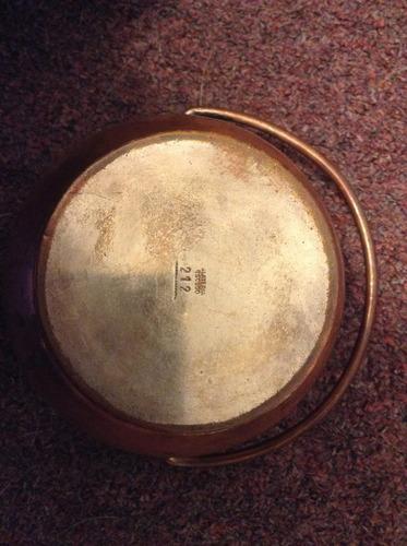 antigua hielera de cobre y bronce - platería escudo 212