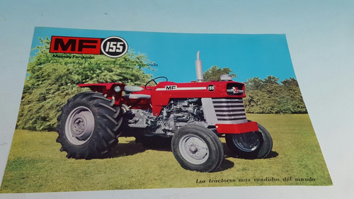 antigua hoja catalogo original de tractor massey fergusson