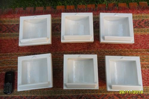 antigua jabonera embutir loza blanca sin uso made in usa