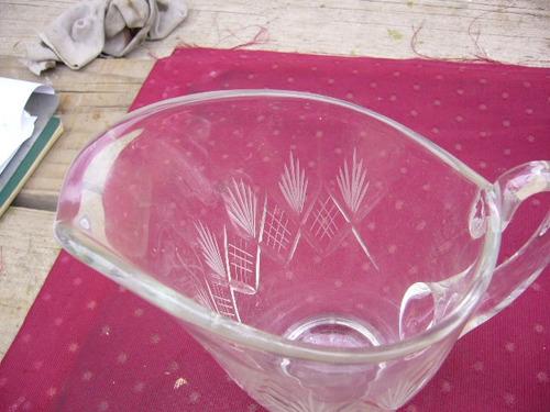 antigua jarra cristal