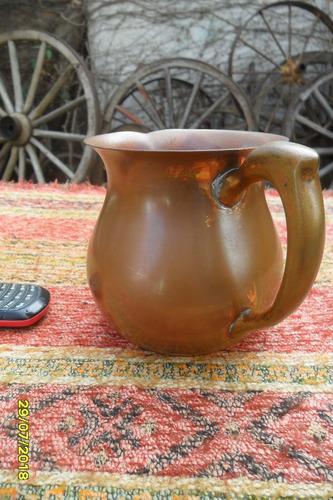 antigua jarra jarrita cobre con asa sana 1 litro