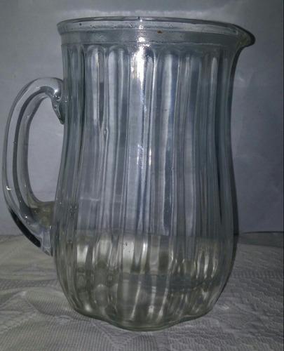 antigua jarra vidrio retro años 70 - de 1,5 lts