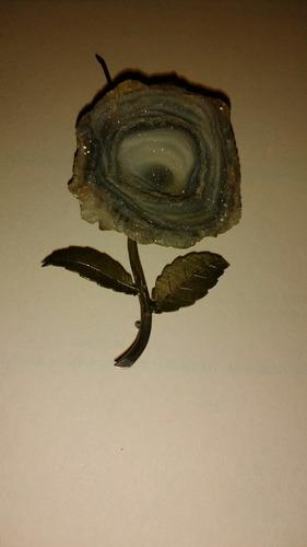 antigua joya prendedor de flor de concha marina natural