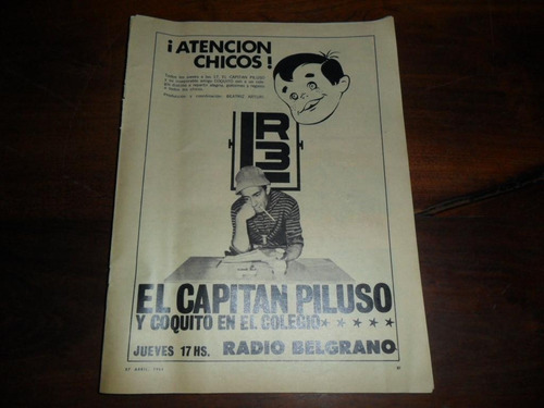 antigua lamina billiken lr3 radio capitan piluso coquito