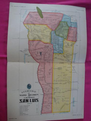 antigua lamina billiken mapa san luis - por a.  bemporat
