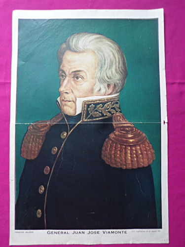antigua lamina coleccion billiken general juan jose viamonte