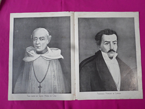 antigua lamina revista billiken congreso de tucuman 9/7/1816