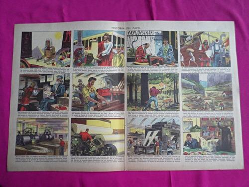 antigua lamina revista billiken historia del papel