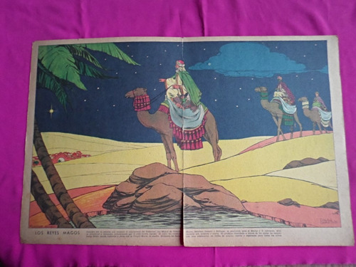 antigua lamina revista billiken los reyes magos