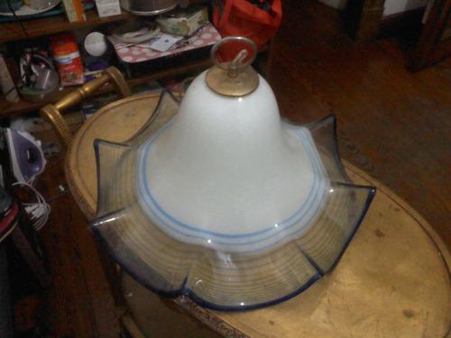 antigua lampara colgante de murano muy buena canje