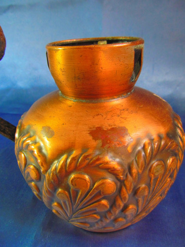 antigua lampara de aceite cobreada 15057